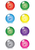 Set of transparent buttons — Stock Vector