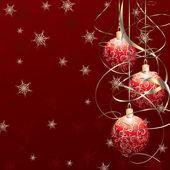Red Christmas balls — Stock Vector