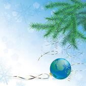 Terra de ano novo — Vetor de Stock