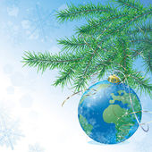 新しい年の地球 — ストックベクタ