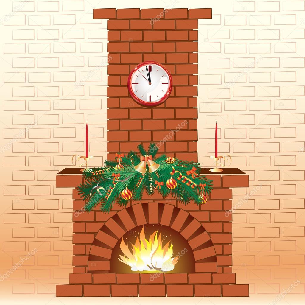 Chimenea de navidad vector de stock crazzzymouse 12030781 - Dibujos de chimeneas de navidad ...