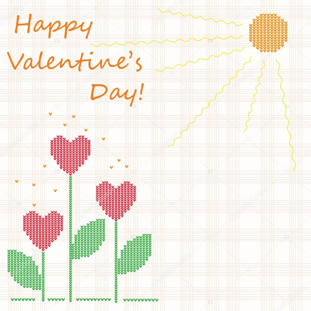 "Cute vector background ""Happy Valentine's Day!"" — Stock Vector #12031658"