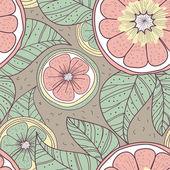 Citrons avec feuilles — Vecteur