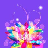 Bright lotus — Stock Vector