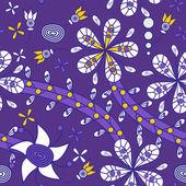 Textura floral — Vector de stock
