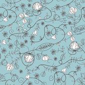 Textura floral sem costura — Vetorial Stock