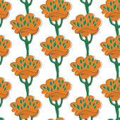 цветочные деревья — Cтоковый вектор