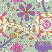 Květinová textury — Stock vektor