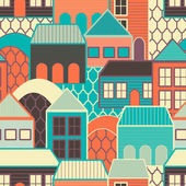 Abstract texture with houses — Stock Vector