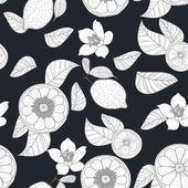 Limoni con foglie — Vettoriale Stock