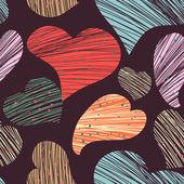 Multicolor hjärtan — Stockvektor