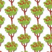 Alberi floreali — Vettoriale Stock