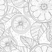 Rosto e florlimões com folhas — Vetorial Stock