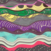 Dikişsiz dalgalar — Stok Vektör