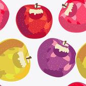 Manzanas — Vector de stock