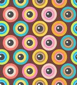 Textura sem emenda com os olhos — Vetor de Stock