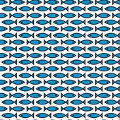 Seamless fish texture — Vettoriale Stock