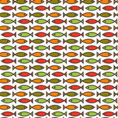 Seamless fish texture — ストックベクタ