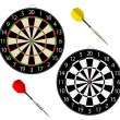 Dartboards with two darts — Stock Vector #11984580