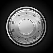 Combination lock wheel — Stock Vector