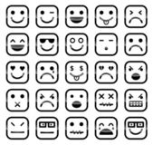Smiley faces iconos — Vector de stock