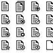File management and administration icons — Imagen vectorial