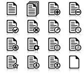 Beheer en administratie bestandspictogrammen — Stockvector