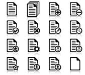 File management and administration icons — Stockvector