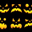 Halloween smiley faces — Stock Vector
