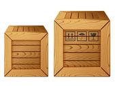 Wooden box icon — Stock Vector