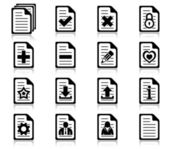 File management and administration icons — Stock Vector