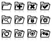 Folder management icons — Stock Vector