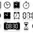 Clock icons — Vettoriali Stock