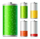 Acid batteries — Stock Vector