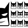 Batmsmiley icons — Stock Vector #30016273