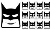 Batman smiley icons — Stock Vector