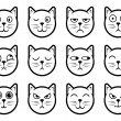 Cat smiley icons — Stock Vector #34145685
