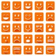 Flat smiley icons — Grafika wektorowa