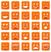 Flat smiley icons — Stock Vector