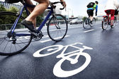 Bike lane — Stock Photo
