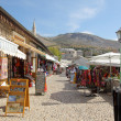 Bazaar street of Mostar city — Stock Photo