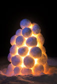 Lantern made of snow — Stock Photo
