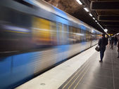 Stockholm Metro Train Station — Stock Photo