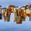 Stock Photo: Locks left by lovers