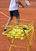 Allenatore di tennis — Foto Stock