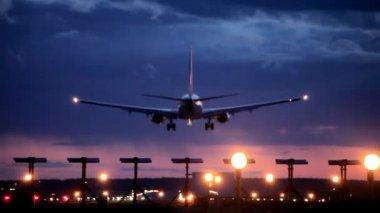 Plane passes overhead — Stock Video