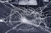 Destroyed window-pane — Stock Photo