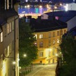 Night view of Stockholm old city — Stock Photo