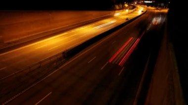 движение по шоссе — Стоковое видео