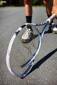 Kırık tenis raketi — Stok fotoğraf